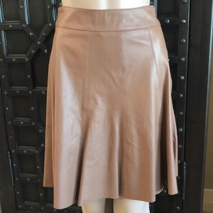 WHBM NWT Flirty Leather skater Skirt
